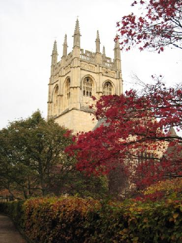 Merton College, Oxford University in autumn photo by Sarah Laurence