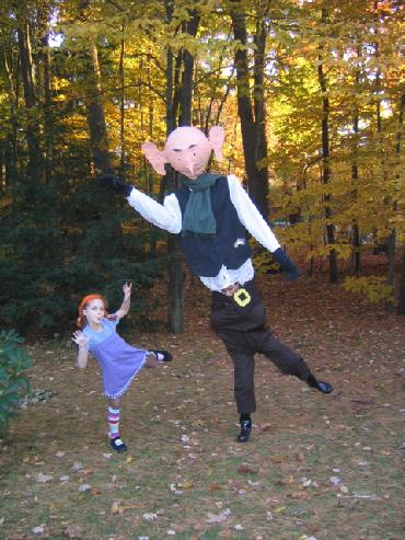 Pippi Longstocking and The B.F.G. at Halloween