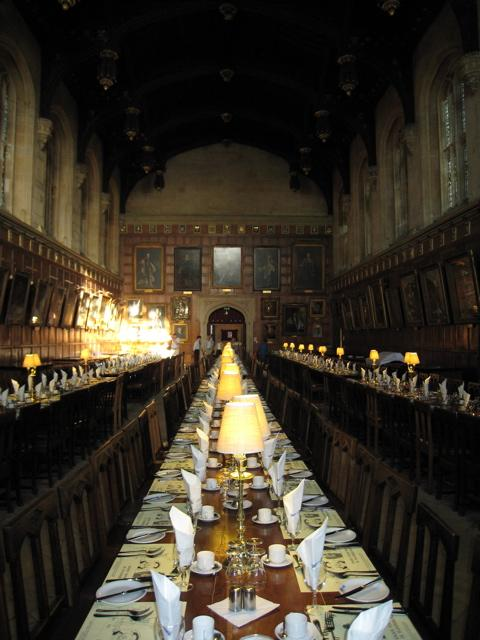 Harry Potter dining hall, Christ Church, Oxford University by Sarah Laurence