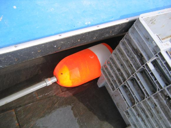 lobster buoy on boat