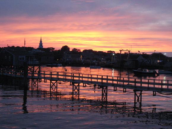 dockside sunset on Nantucket by Sarah Laurence