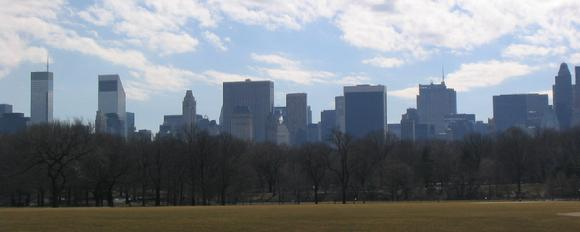 New York City skyline from Central Park
