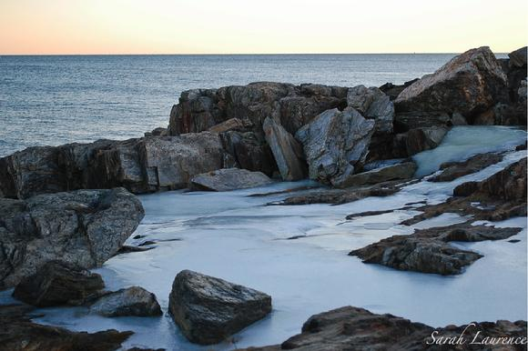 frozen tidal pool bailey island maine photo by sarah laurence